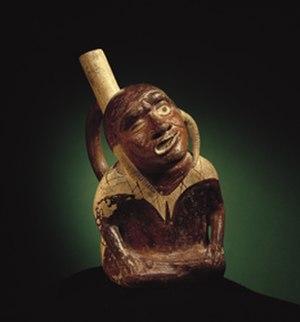 Moche portrait vessel - portrait vessel featuring paralysis, Larco Museum