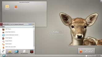 Pardus (operating system) - Image: Pardus 2011.1 Dama dama