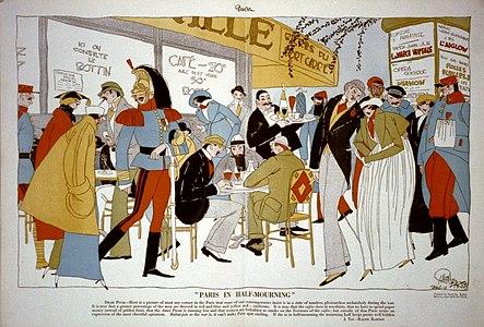 Paris in half-mourning by Ralph Burton 1915