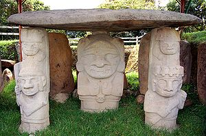 Archaeological park in San Agustín features sculptures dating from 1st to 8th centuries AD.