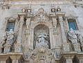 Part superior de la portalada barroca de santa Maria d'Alacant.JPG