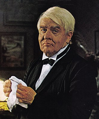 Pat Hingle - Hingle as Thomas Edison in a General Electric ad, in 1977.