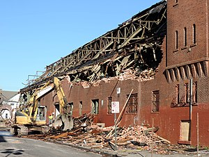 Paterson Armory - Demolition in progress