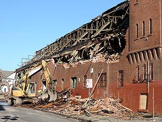 Paterson Armory - Demolition in progress