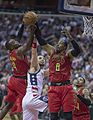Paul Millsap, Marcin Gortat, Dwight Howard (34254185546).jpg