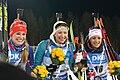 Paulina Fialková (SLO) Darya Domracheva (BLR) Anaïs Chevalier (FRA) (42396068540).jpg