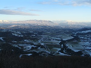 Albanais - The snow-covered Albanais, as viewed from the Princes Mountains with the Semnoz in the background
