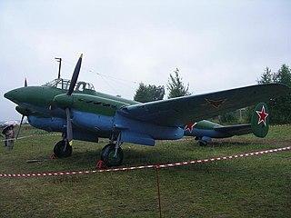 Petlyakov Pe-2 dive bomber aircraft