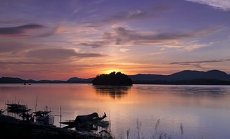 Guwahati - The smallest inhabited riverine island in the world, Peacock Island, on the Brahmaputra river