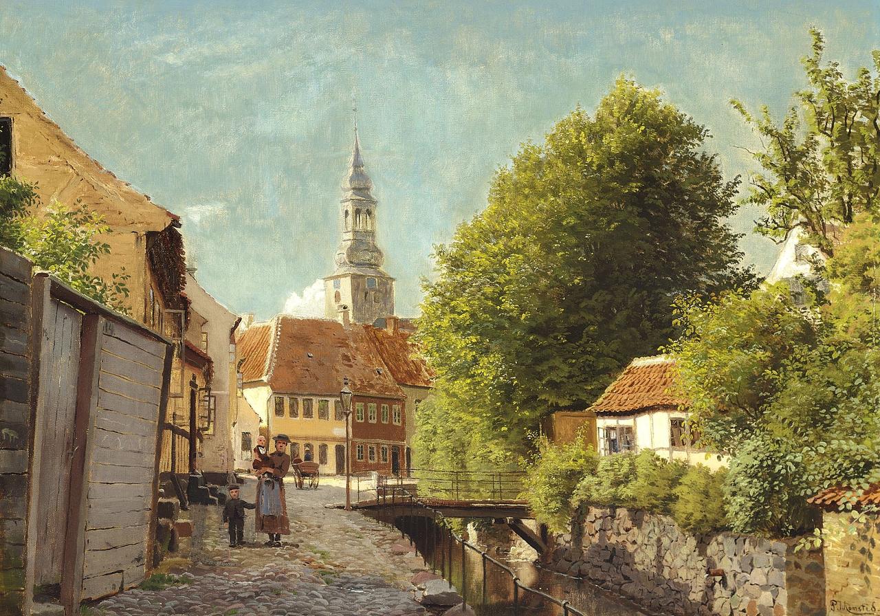 Педер Мёнстед - Зоммердаг и Ольборг - 1880.png