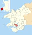 Pembrokeshire UK wards - Burton locator.png
