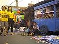 Penjual tatakan lilin, PKL Pasar Minggon, Purwokerto.jpg
