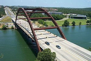 Colorado River (Texas) - Image: Pennybacker Bridge