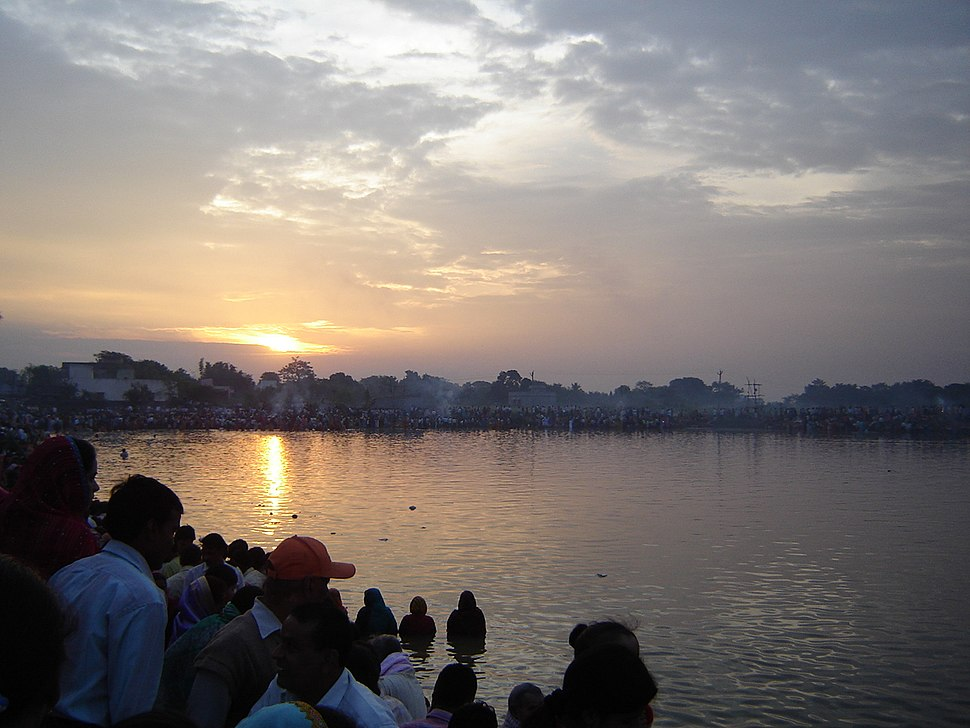 People Celebrating Chhath Festival