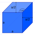 Perfect Cube in Dimetric Cavalier Projection in Inkscape.png