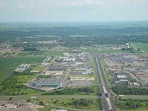 Peru, Illinois - Aerial view of Peru, Illinois