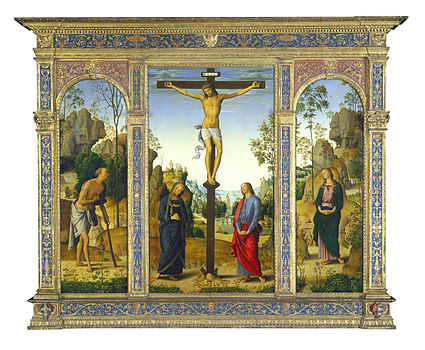 Perugino - The Crucifixion with the Virgin, Saints John, Jerome, and Mary Magdalene - Galitzin-Triptych.jpg