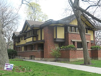 Peter A. Beachy House - Image: Peter A. Beachy House (1906), Frank Lloyd Wright, Oak Park, IL
