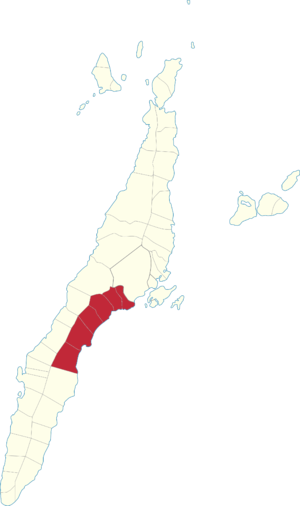 Legislative districts of Cebu - Map of the current 1st District of Cebu