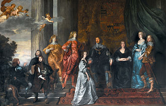Wilton House - Philip Herbert, 4th Earl of Pembroke, with his family, painted ca. 1634–35 by Anthony van Dyck.
