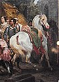 Philippe Auguste Arabian horse and Moorish attendant at the Battle of Bouvines.jpg