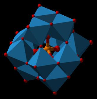 Molybdenum - Image: Phosphotungstate 3D polyhedra
