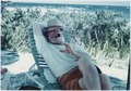 Photograph of Gerald R. Ford Relaxing on the Beach During a Vacation Trip to Montego Bay, Jamaica Following the 1972... - NARA - 186970.tif