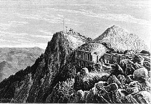 Société Ramond - Members of the Société Ramond lay the first stone of the Pic du Midi Observatory in 1878 (artist unknown).
