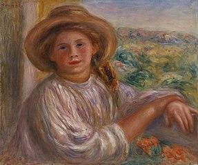 Girl on a Balcony, Cagnes (Jeune femme au balcon, Cagnes)