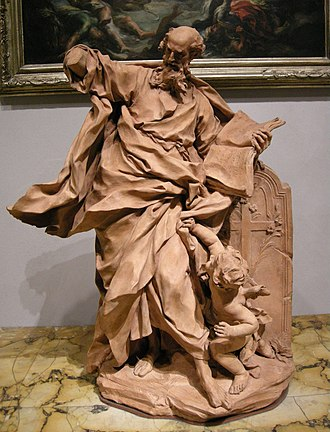 Pierre Le Gros the Younger - Apostle Thomas, Terracotta model, 1703-04, Los Angeles County Museum of Art