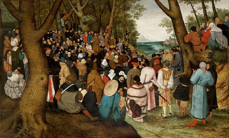 File:Pieter Brueghel the Younger Preaching.jpg
