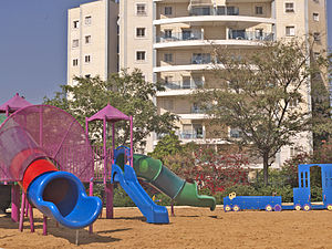 Kiryat Gat - Kiryat Gat residential towers and park