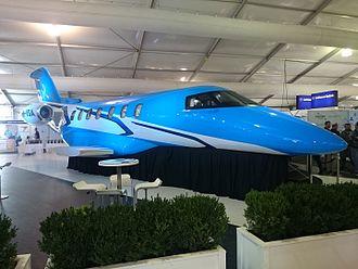 Pilatus PC-24 - A PC-24 mockup on display at the 2015 Australian International Airshow