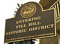Pill Hill Historic District sign, Brookline, MA.JPG