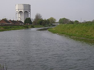 Pinchbeck, Lincolnshire - Image: Pinchbeck water tower by Graham Horn