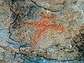 Pintura rupestre antropomorfo. Abrigo de la dehesa. Miño de Medinaceli. Soria. España 01.jpg