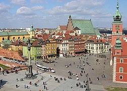Plac Zamkowy w Warszawie widziany z wie%C5%BCy ko%C5%9Bcio%C5%82a %C5%9Bw. Anny