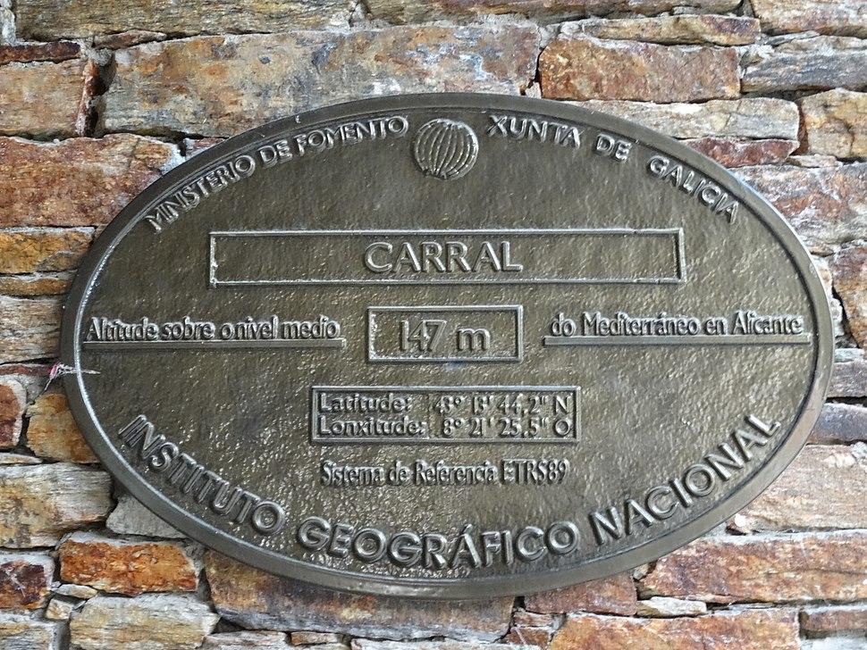 Placa altimétrica Carral, Coruña
