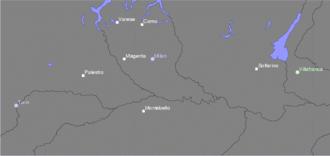 Battle of Montebello (1859) - Places of the 1859 Austro-Sardinian War.