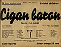 Plakat za predstavo Cigan baron v Narodnem gledališču v Mariboru 25. marca 1940.jpg