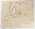 Plan över fästning på ö i flodkrök - Skoklosters slott - 98081.tif