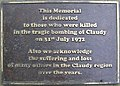 Plaque, Claudy - geograph.org.uk - 813680.jpg