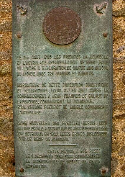 File:Plaque Lapérouse (Brest).jpg