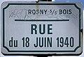 Plaque Rue 18 Juin 1940 - Rosny-sous-Bois (FR93) - 2021-04-15 - 1.jpg