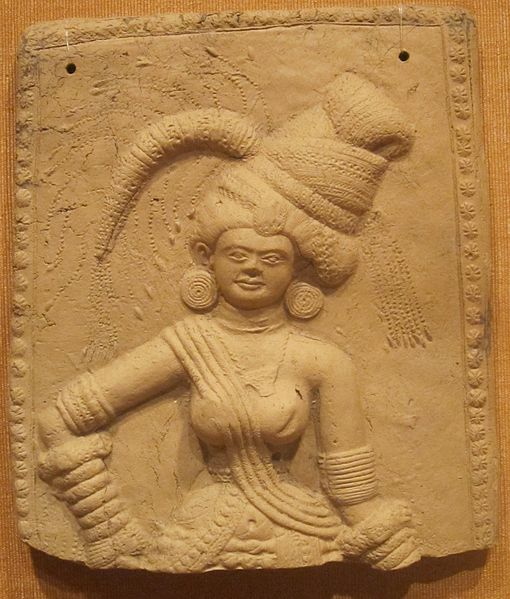 File:Plaque of a Yakshi (female nature spirit), India, Bengal, 3rd-2nd century BCE, terracotta, HAA I.JPG