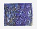 Plaque with Harpokrates (or similar) on a lotus, Ptah and Re-Harakhty(?) MET 30.8.692 view 1.jpg