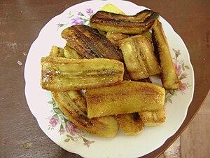 Español: Plantano frito.