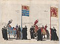 Plate 37- Men with heraldic flags and horses from Zeeland and Holland marching in the funeral procession of Archduke Albert of Austria; from 'Pompa Funebris ... Alberti Pii' MET DP874757.jpg