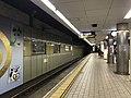 Platform of Ebisucho Station (Sakaisuji Line) 6.jpg