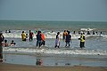 Playful People with Sea Waves - New Digha Beach - East Midnapore 2015-05-01 8683.JPG
